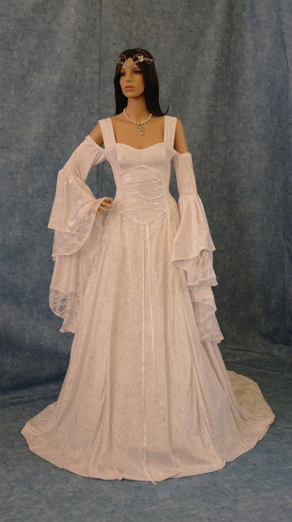 Renaissance Wedding Dress, Medieval Dress, Handfasting Gown, Wedding ...