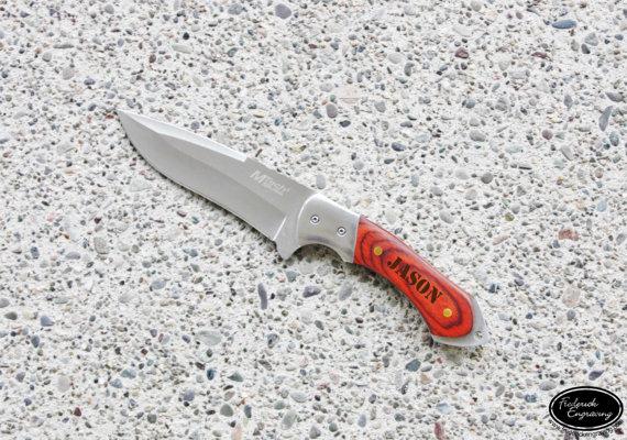 زفاف - Personalized Hunting Knife - Custom Engraved Knife - Custom Hunting Knife - Gift for Him, Fathers Day, Anniversary, Groomsmen Gift - KNV-109