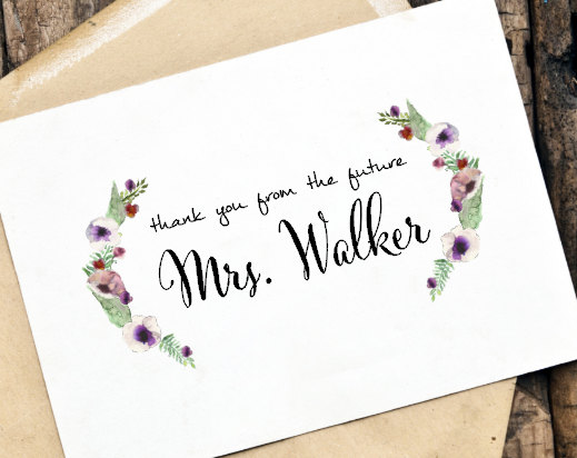 Thank You From The Future Mrs Couple Or Custom Card Set