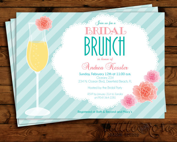 floral mimosa bridal brunch invitation bridal shower invite wedding shower bridal luncheon brunch invitation printable