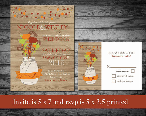 Mariage - Rustic Fall Wedding Invitations