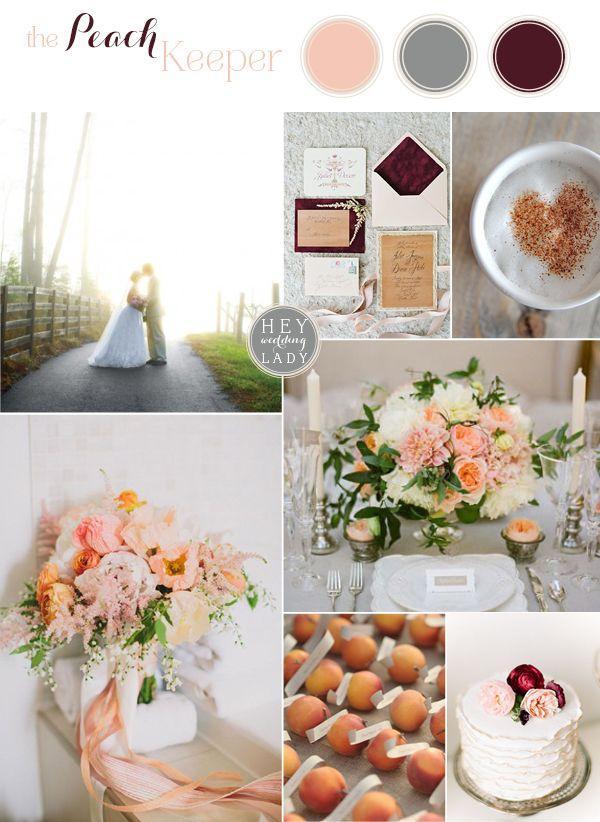 Свадьба - The Peach Keeper – Southern Peach And Burgundy Inspiration
