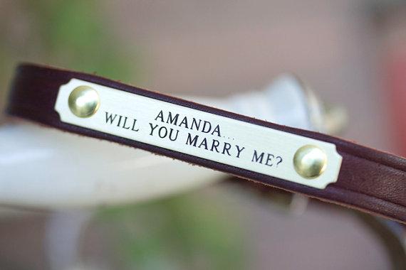 زفاف - Wedding Dog, Bridal Dog, Engagement Dog Collar, Will You Marry Me