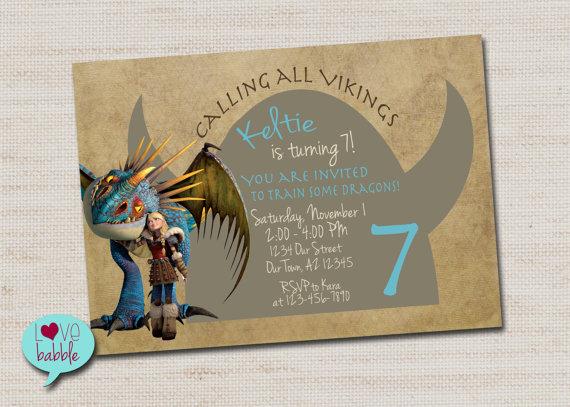 How To Train Your Dragon Viking Invitation Printable Digital File