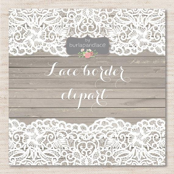 Lace Border Rustic Wedding Invitation Frame Clipart White Shabby Chic Vintage