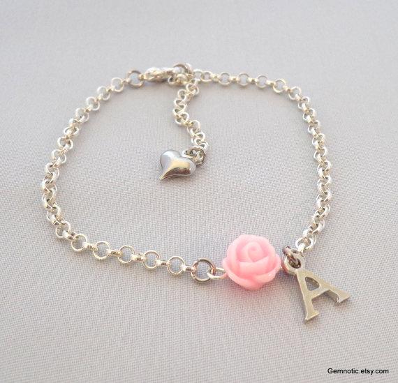 Personalized Flower Girl Bracelet Flower Girl Gift Flower Girl