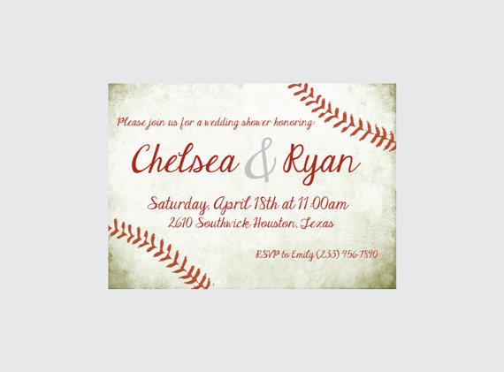 baseball wedding shower invitation baseball wedding shower invite