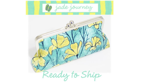 Wedding - Aqua Floral Clutch - Wedding Clutch - Bridesmaid Clutch - Mother's Day
