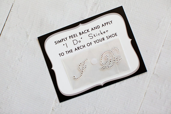 Wedding - Clear I Do Sticker for Brides Shoes // CRYSTAL