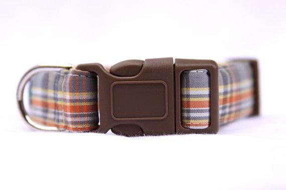 Wedding - Emerson Plaid Dog Collar