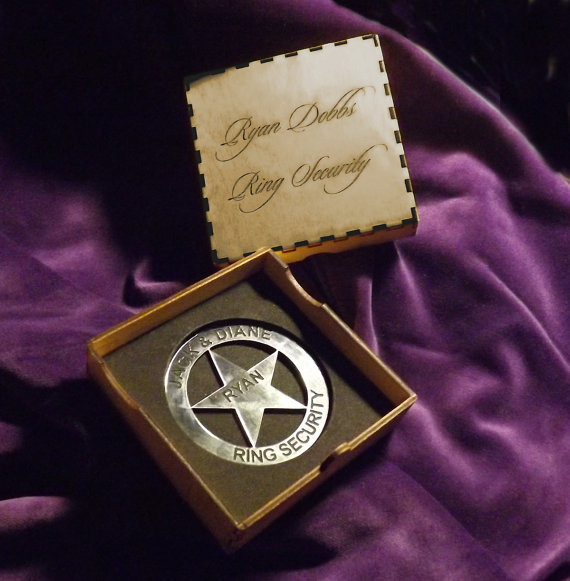 Wedding - Ring Security Badge for the Ring Bearer - Wedding Keepsake