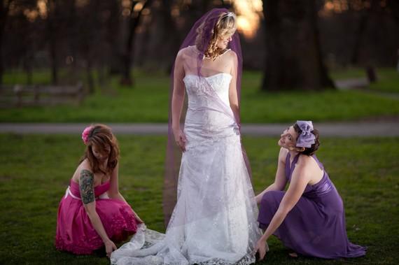 Mariage - Bridal Veil, Waltz Length Veil 54 inch wide 50 inch long, color purple, pink, black, white, ivory, Tulle Bridal Veil knee length veil