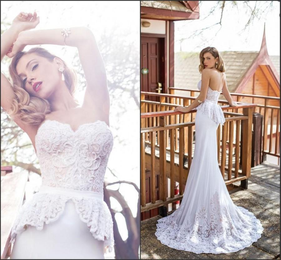 Amzing Lace Julie Vino 2015 Wedding Dresses A-Line Applique ...