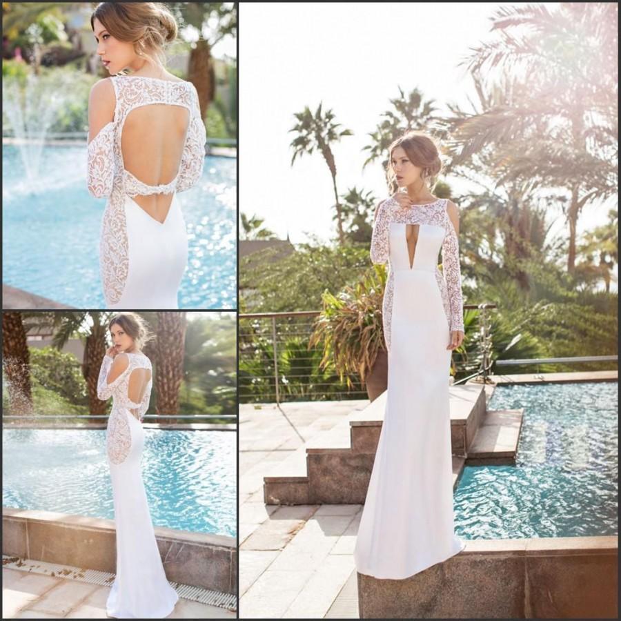 romantic long sleeve julie vino 2015 mermaid lace sexy wedding