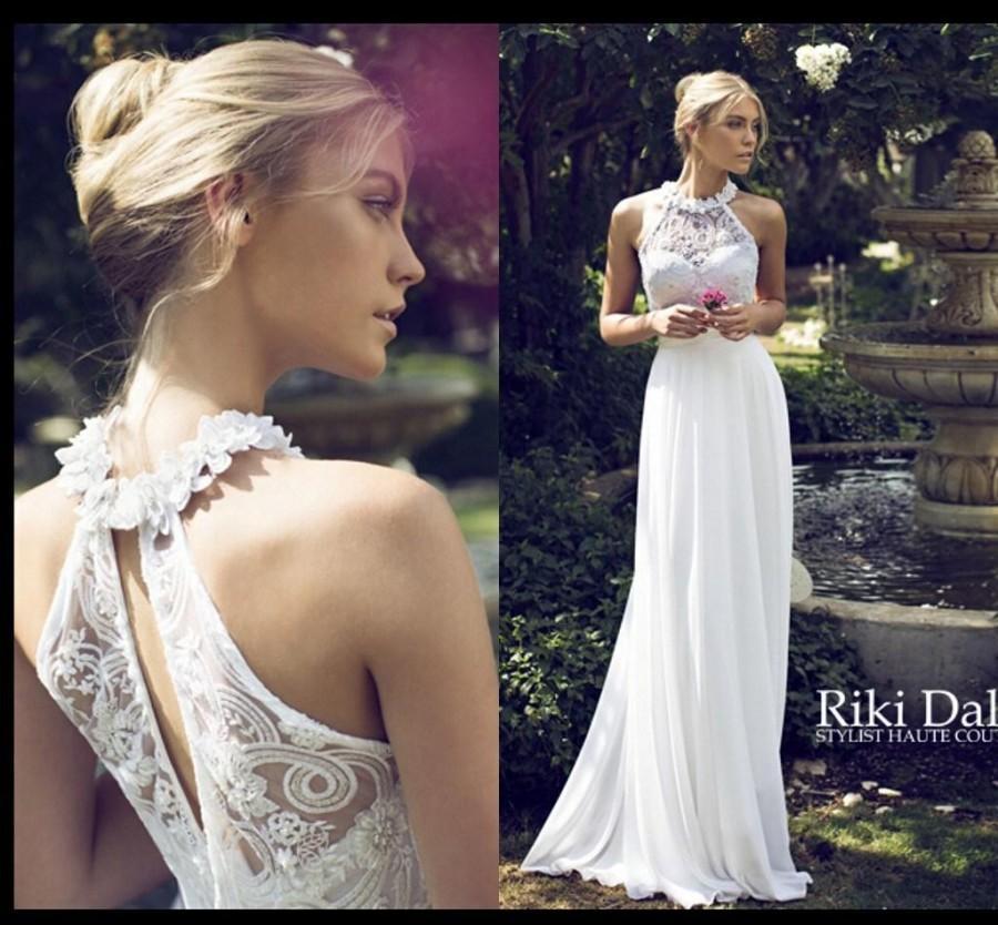 Wedding - Gorgeous Garden&Beach Wedding Dress High Neck Appliques Hollow Floor-Length A Line Bridal Gowns Custom Made Online with $105.92/Piece on Hjklp88's Store
