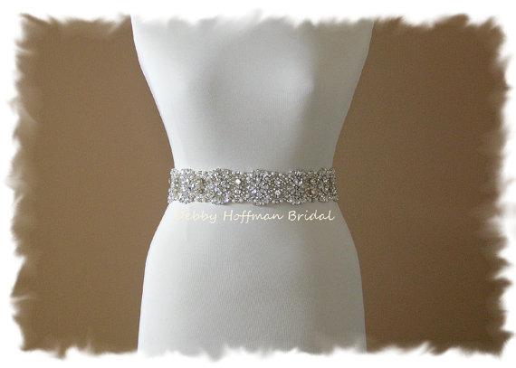 "Mariage - SALE  Wedding Belt, Vintage Style, 17"" Crystal Pearl Bridal Sash, Pearl Rhinestone Wedding Belt, Sash, No. 4069-17, Wedding Accessories"