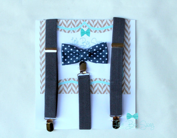 Mariage - ring bearer bow tie..boy bow tie..1st birthday boy..ring bearer outfit..boys suspender and bow tie..wedding..photo prop..suspender