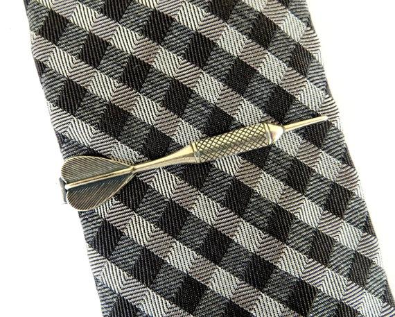 Mariage - Dart Tie Bar- Dart Tie Clip- Sterling Silver & Antiqued Brass Finishes- Gifts For Men- Groomsmen Gifts