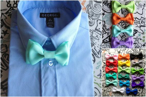 Свадьба - Ready to Ship Seafoam Blue Bowtie Mint bowtie & Suspender Set Boys tie Newborn Bowtie Toddler Necktie Groomsmen Accessories Baby Shower Gift