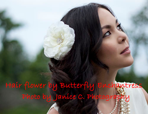 زفاف - Flower Hair Clip, Bridal Hair Flower, Wedding Hair Accessory, Bridal Flower Hair Accessories - Starfire Ivory Audrina Bridal Hair Flower