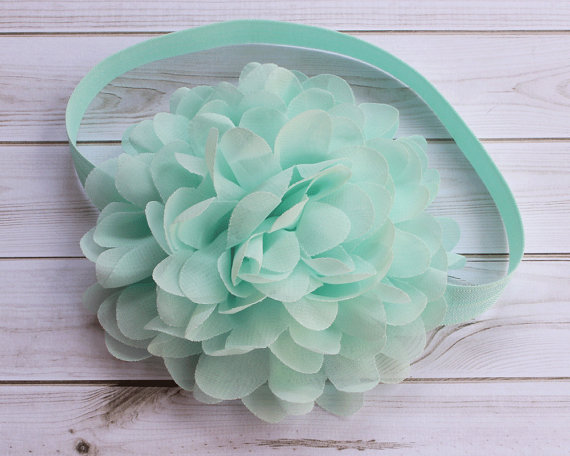 Mariage - Seafoam Green Headband, Seafoam Baby Headband, Aqua Blue Headband, Seafoam Flower Girl Headband, Wedding Headband, Newborn Headband