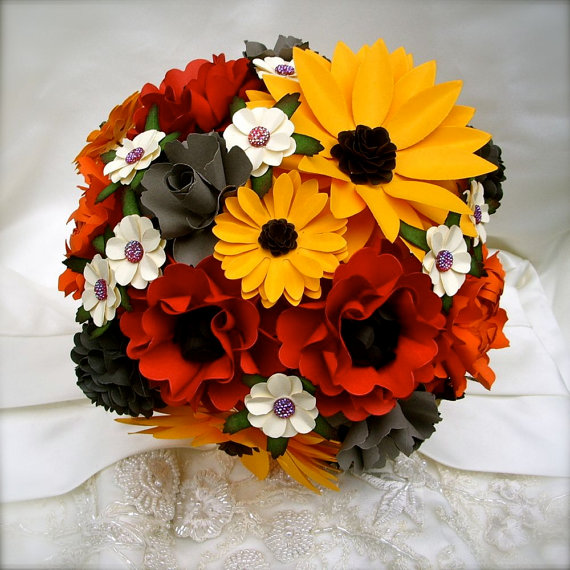 Mariage - Autumn Inspired - Paper Bouquet - Customize your Style and Colors - Made To Order