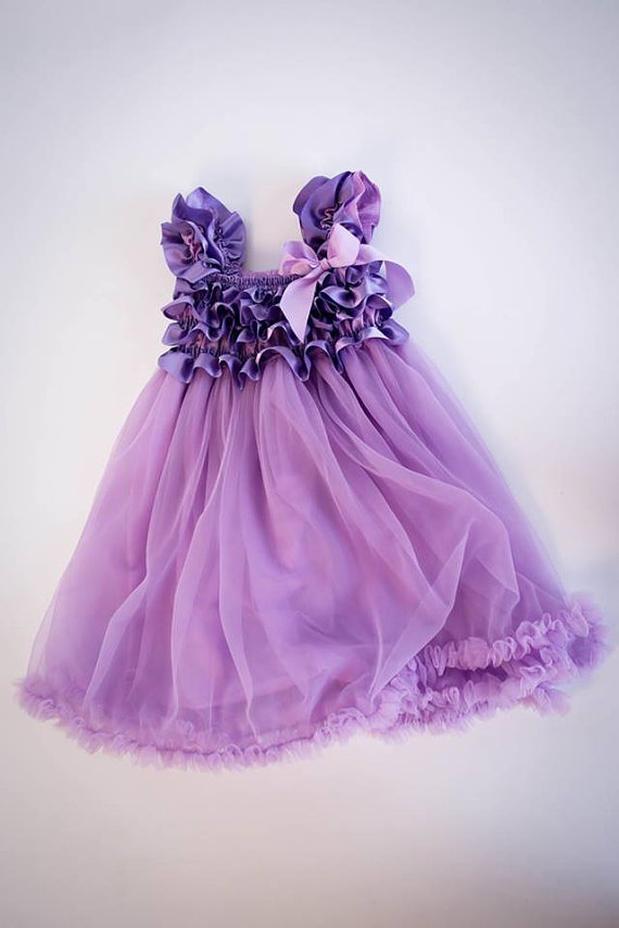 Purple Tutu Dress W Matching Headband Perfect Easter Pageant Flower 1st Birthday Outfit