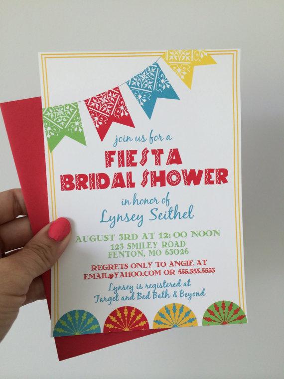 Fiesta Bridal Shower Invitations Mexican Wedding Shower Invite