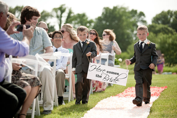 Ring Bearer Sign Here Comes The Bride Your Wood Wedding Uncle Daddy Mommy