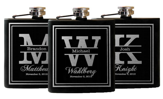 Wedding Party Gift Ideas For Groomsmen: Wedding Party Favors, Groomsmen Flask Gifts, Custom
