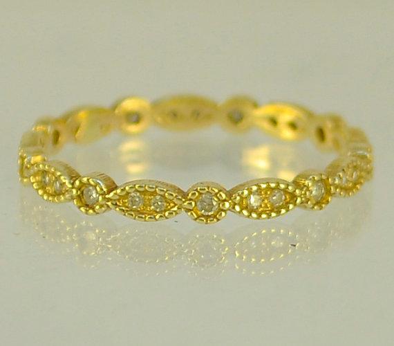 Wedding - Diamond Engagement 14 Karat gold ring,  engagement ring, Recycled gold, Wedding Band, Woman Wedding Band. Made To Order  ring
