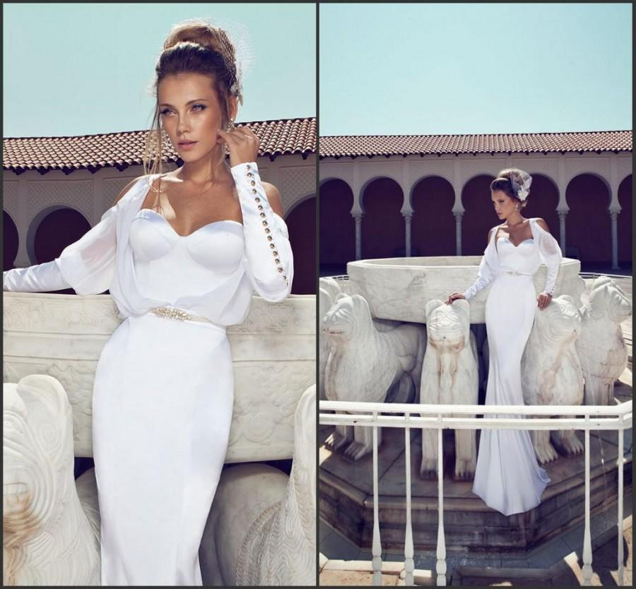 White Long Sleeve Satin Dress