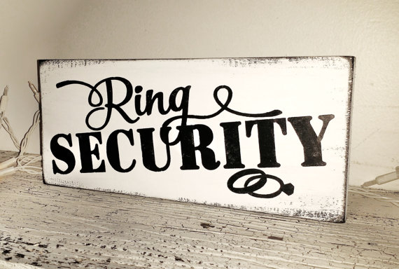 weddings wedding party ring bearer quotring securityquot sign