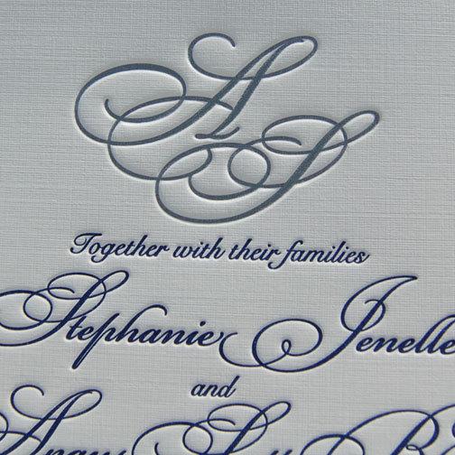 زفاف - Letterpress Wedding Invitation - Traditional - Sample