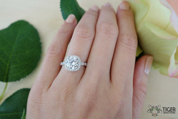 Fascinating New Wedding Rings Man Made Diamond Wedding Ring