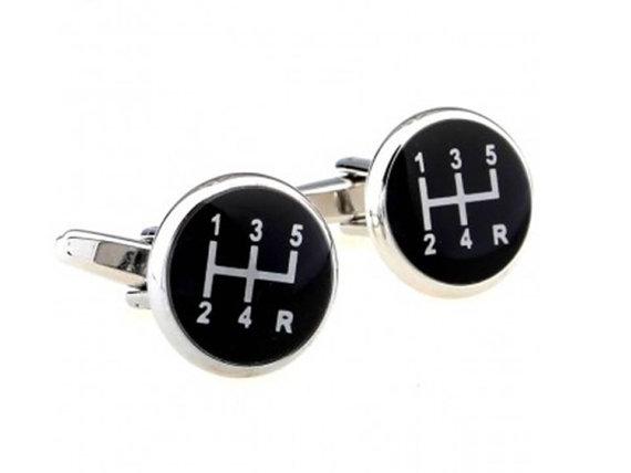 Свадьба - Gear Shifter Cufflinks - Groomsmen Gift - Men's Jewelry - Gift Box Included