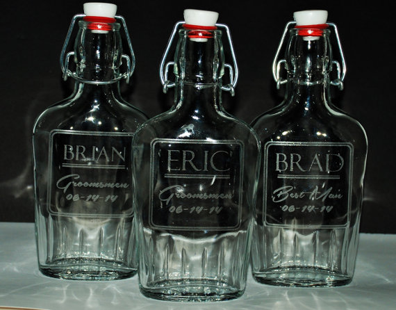 8 custom glass flasks 8 5 oz glass flask personalized flask