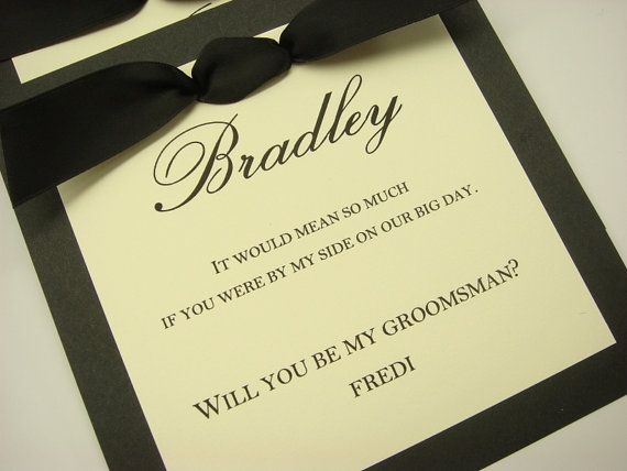 Groomsman Invitation To Ask Your Friends Be A Part Of Wedding Day As Best Man Usher Ring Bearer