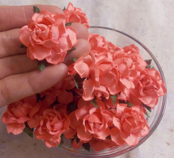 25 pcs size 15 handmade mulberry paper craft flower paper 25 pcs size 15 handmade mulberry paper craft flower paper flower decoration wedding roses coral color mightylinksfo
