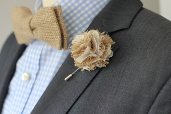 Groomsmen Wedding Boutonniere Lapel Pin Wedding Lapel Pin Flower Flower Lapel Pin