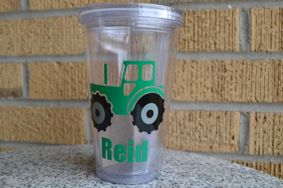 Mariage - Tractor Tumbler  Ring Bearer Gift - Tumbler - Cup - Wedding - Custom Colors - Tractor
