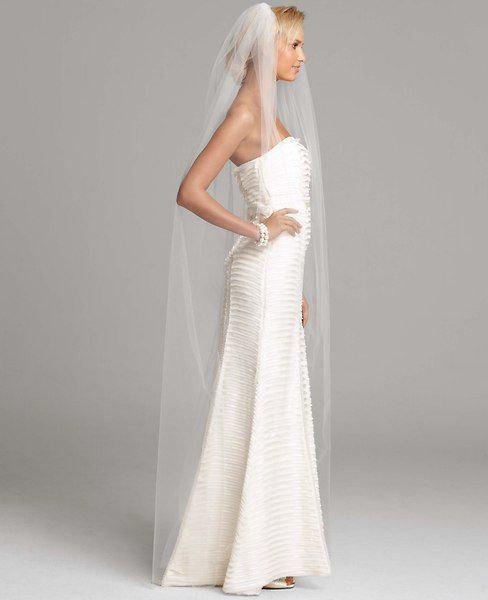 Wedding - Raw edge floor length Tulle wedding veil