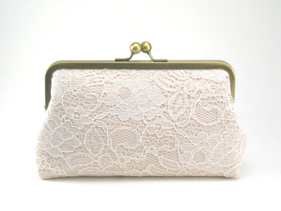 Wedding - Blush Clutch