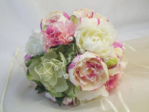 Hochzeit - Bridal bouquet,wedding bouquet,satin peony bouquet,flower peony bouquet, satin bouquet wedding flower, satin  flower bouquet.bouquet.