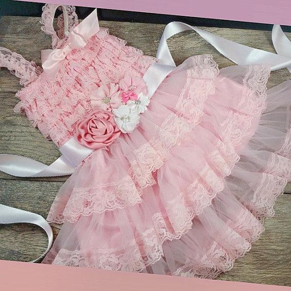 Hochzeit - Pink Flower Girl Dresses // Wedding Dress For Flower Girls
