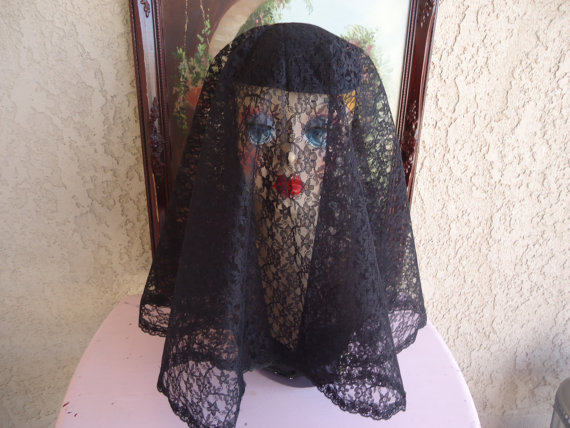زفاف - Widow Veil, Mourning Hat, Civil War Style, Dickens, ,Alternative Wedding, Punk, Goth, Edwardian