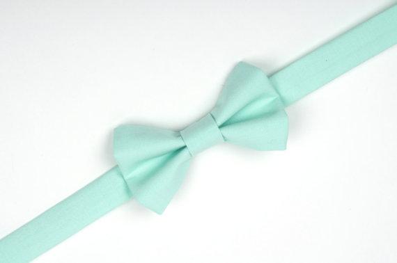 Mariage - Mint bow tie, mint green, mint wedding, ring bearer bow tie, boys mint bow tie, toddler bow tie, baby bow tie, boys mint accessories, bowtie