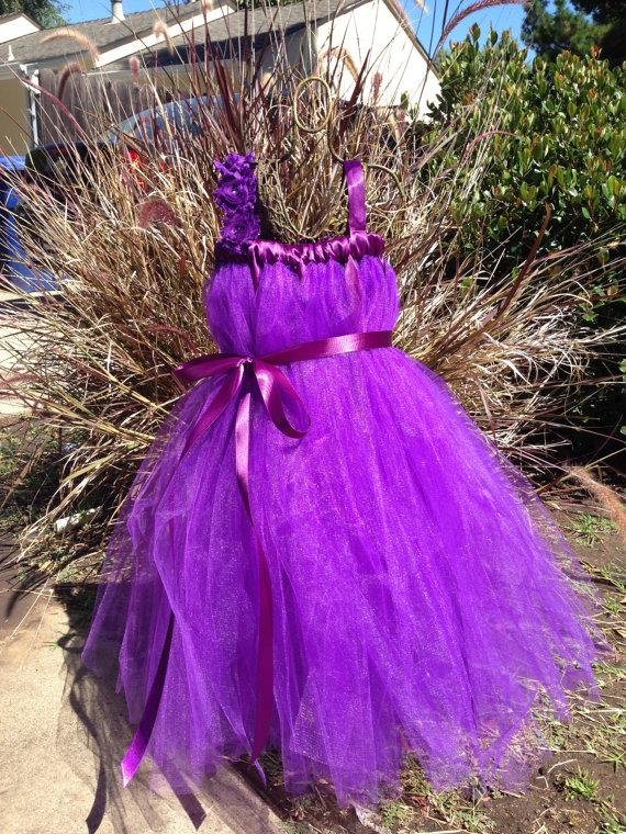 Wedding - Purple Potion, purple tulle dress, purple wedding dress, purple tutu dress, purple costume, purple flower girl dress, childrens tutu dresses