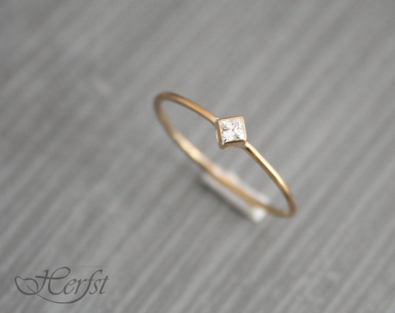 Свадьба - 14k Diamond solid gold ring, engagement ring, wedding ring, diamond ring, Handmade