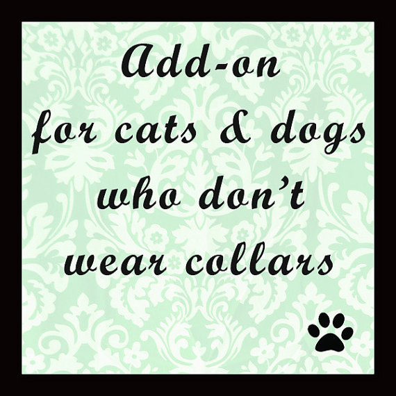 Свадьба - Add on for for dogs and cats without collars - for bow ties, soft, lightweight, collarless
